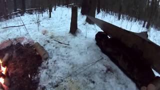 Ночевка в зимнем лесу без палатки