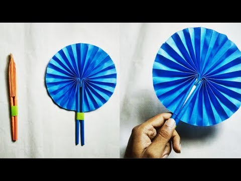 DIY : Handmade Paper Fan | Folded Hand Fan | How to Make a Paper Fan | Folded paper fan tutorial