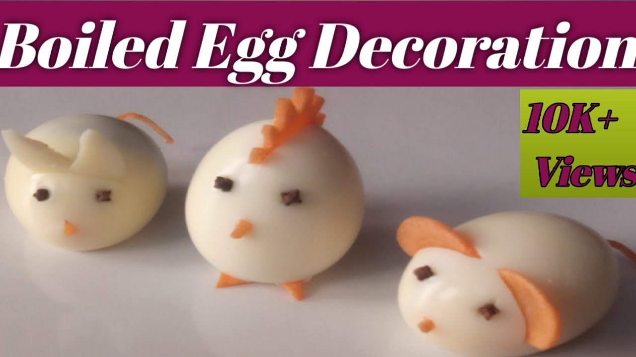 Decorative Eggs 3 Best Decorate Idea For Boiled Egg At Home