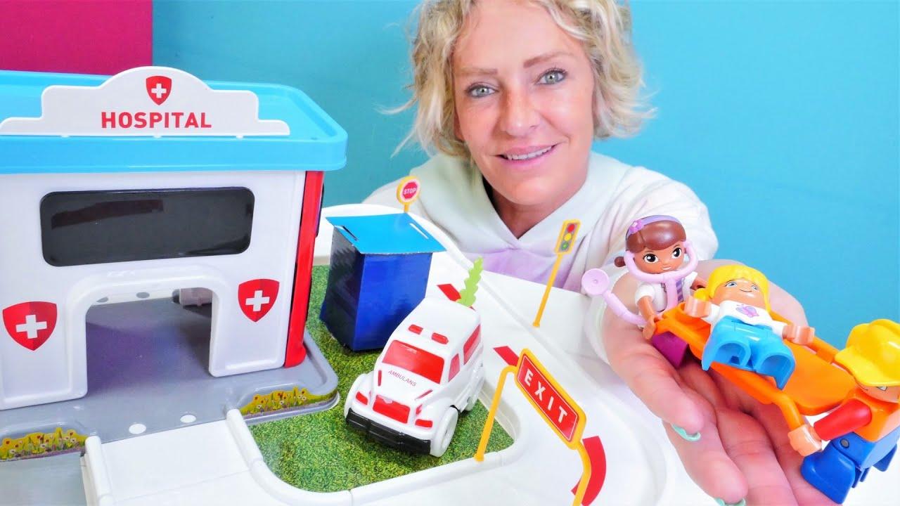 Wir packen Spielzeug aus - Das neue Krankenhaus  - Spielspaß mit Lego Duplo