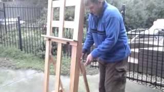 Folding  A H Frame Easel.3gp