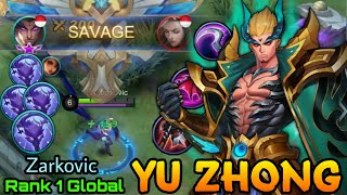 Yu Zhong Perfect SAVAGE!! - Top 1 Global Yu Zhong Zarkovic - Mobile Legends: Bang Bang screenshot 4