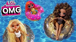 LOL Surprise OMG Pool Party | L.O.L. Full Set Fashion Dolls Unboxing + Mini Floaties Summer Play