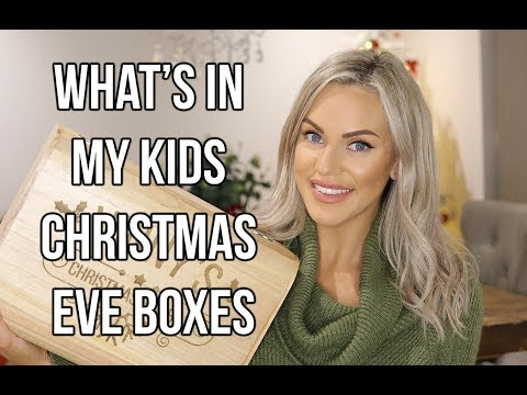 WHAT'S IN MY KIDS CHRISTMAS EVE BOXES