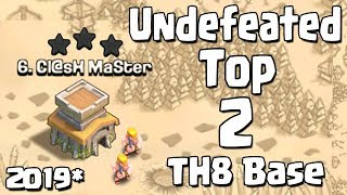 TOP 2 TH8 WAR BASE 2019 Anti 3 STAR | Town Hall 8 (TH8) 2019  WAR  BASE COC CLASH OF CLANS