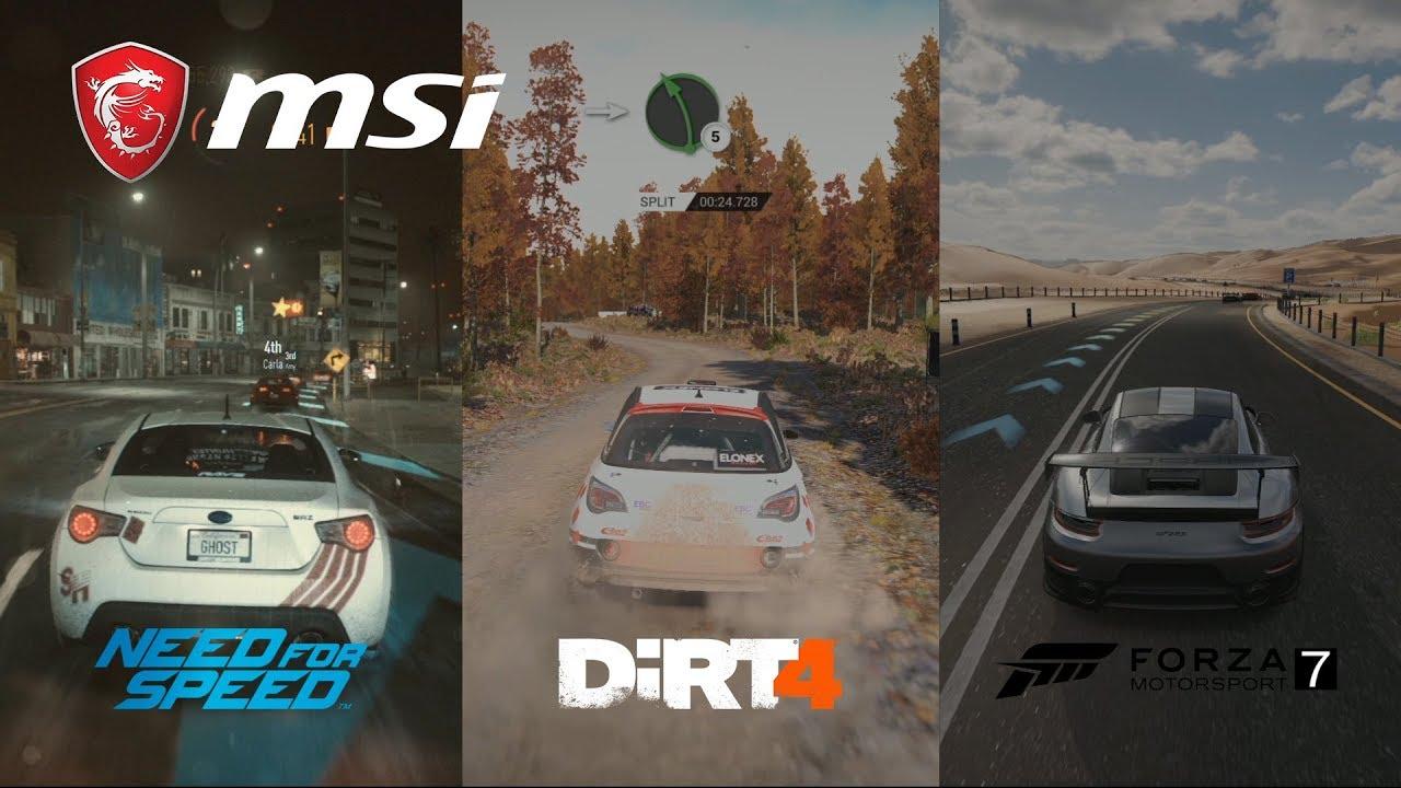 How smooth do racing games run on GE Raider Series? | MSI
