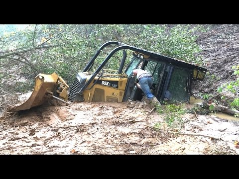 Stuck Dozer Rental Disaster Accident Buried in 5 Feet of Mud