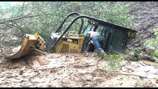 Stuck Dozer Rental Disaster Accident Buried in 5 Feet of Mud Excavator