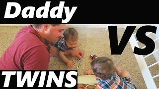 Daddy Vs Twins!!! (9-22-15 - Day 90)