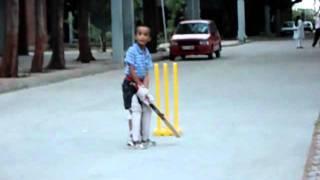 young cricket star sharya Awasthi at the age of 6 at Bharuch Gujrat