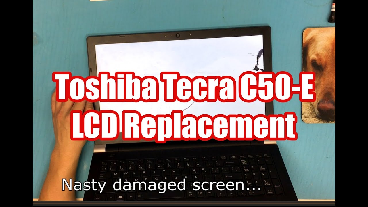 How to replace Laptop screen for Toshiba Tecra C50 E LCD - YouTube