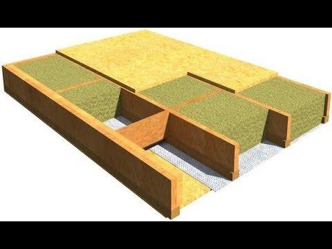 Утепление и звукоизоляция деревьяного перекрытия