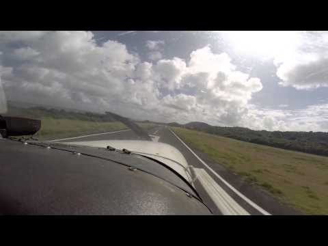 Flying from Isla Grande to Vieques in Puerto Rico