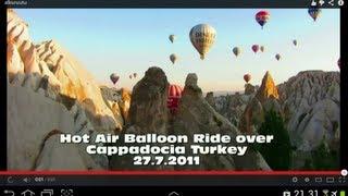 Hot Air Balloon Flight over Cappadocia Turkey 2011 Full HD; Fairy Chimneys, Red Valley