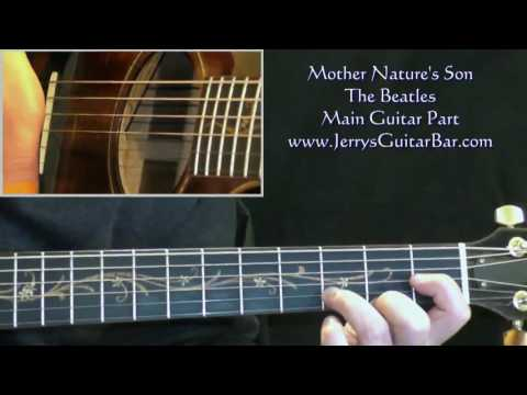 How To Play The Beatles Mother Nature's Son (intro only)
