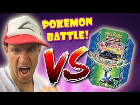 SPECIAL INTRO! - Leonhart VS Pokemon Tin FILLED WITH RANDOM BOOSTER PACKS!