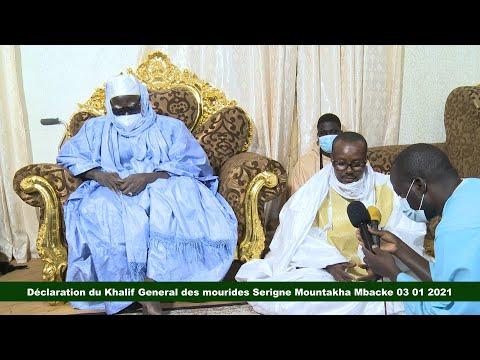 Urgent: Déclaration du Khalif General des mourides Serigne Mountakha Mbacke 03 01 2021