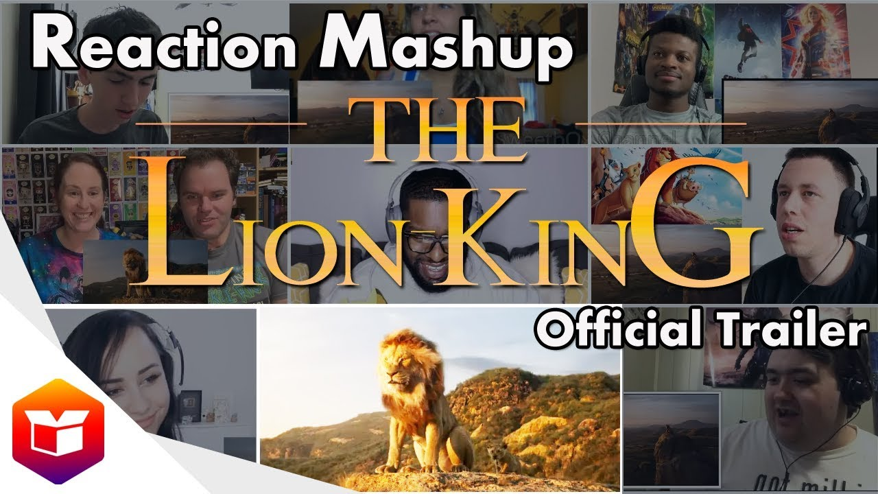 the lion king official trailer - reaction mashup
