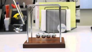 Wood Grain Newtons Cradle