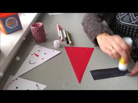The Creation Station Creative Christmas Countdown - Day 1 - Bunting!