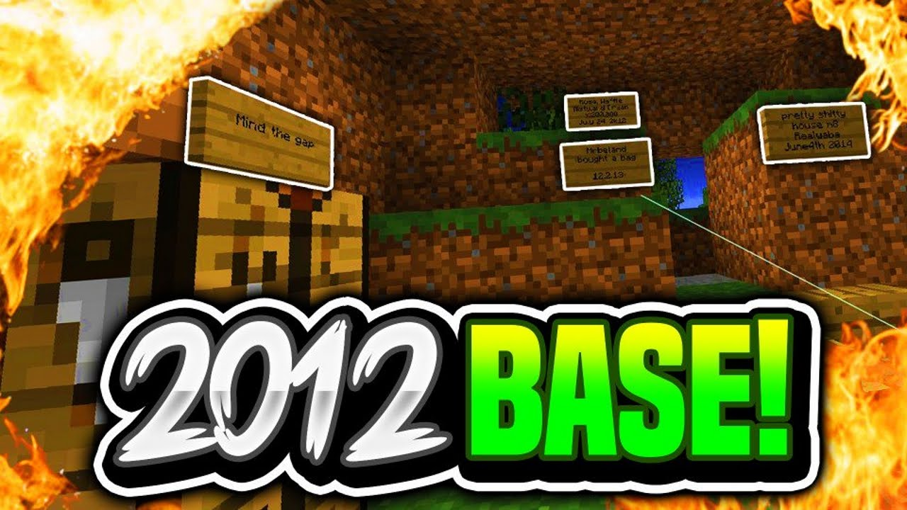 OLD 2012 BASE FOUND!! (2b2t) | Oldest Server in Minecraft