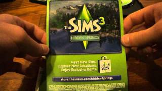 The Sims 3 Master Suite stuff pack unboxing
