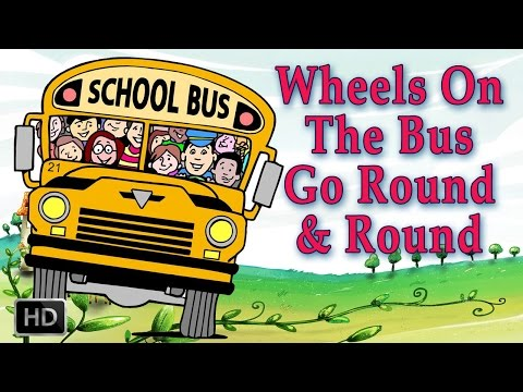 The Wheels on The Bus Go Round and Round - Nursery Rhymes