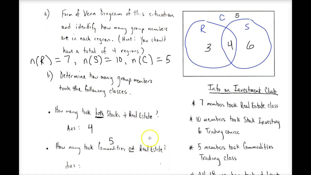 maxresdefault set theory basic (part 3) using venn diagrams in word problems