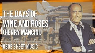 EASY Oboe Sheet Music: How to play The Days of Wine and Roses by Henry Mancini