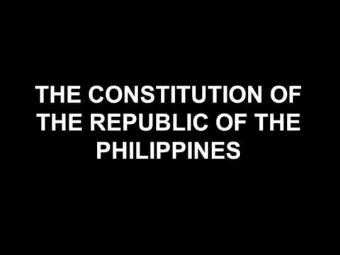 PHILIPPINE CONSTITUTION: Article IV Citizenship