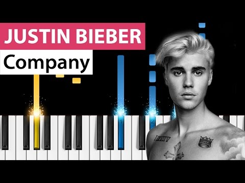 Justin Bieber  Company  Piano Tutorial  Easy Version
