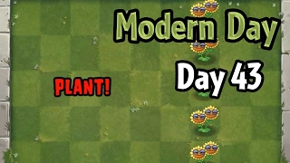Plants vs Zombies 2 - Modern Day - Day 43: Produce Sun with help from Punk Zombies