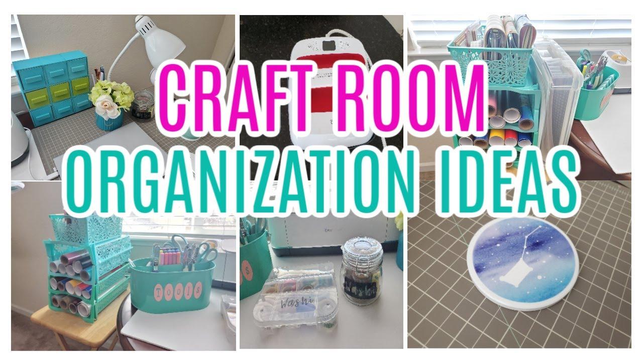 DOLLAR STORE CRAFT ROOM ORGANIZATION IDEAS ~ VINYL ORGANIZER ~ CRICUT ORGANIZATION