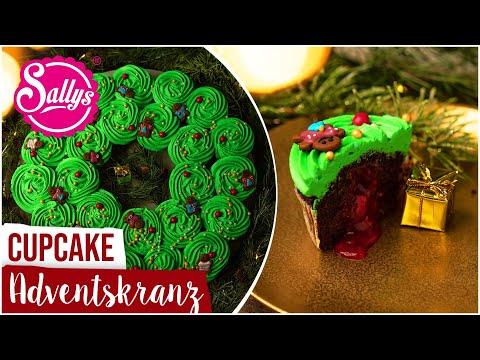 Cupcake Adventskranz / Xmas backen / Sallys Welt