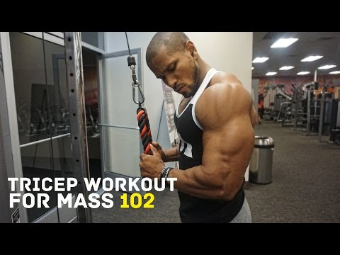 TRICEP WORKOUT FOR MASS 102