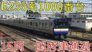 E235系1000番台15両編成試運転が国府津を通過 185系とすれ違いあり(2020/09/01)