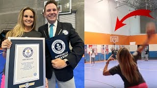 MY FIRST GUINNESS WORLD RECORD!! *Football Trick Shot*