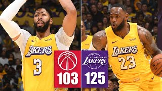 LeBron James, Anthony Davis combine for 49 points, 13 assists vs. Wizards   2019-20 NBA Highlights