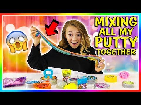 MIXING ALL MY PUTTY CHALLENGE | Making Rainbow Putty | Kayla Davis