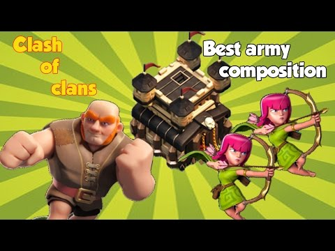 Clash Of Clans|Best Army Composition for Town Hall 8/9