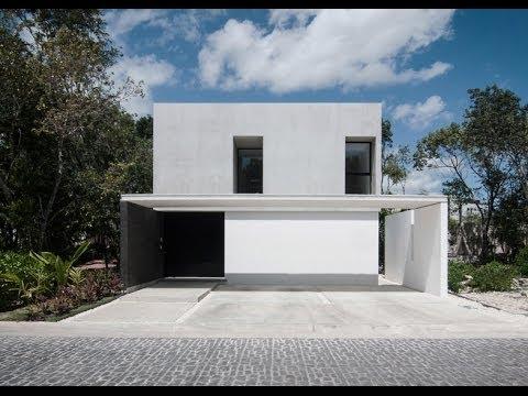 Dise o de casa minimalista de dos pisos youtube Pisos modernos para casas minimalistas