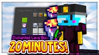 How i got an Enchanted Lava Bucket in 20 minutes... in HYPIXEL SKYBLOCK! I BEST MINION FUEL!