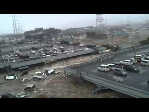Tsunami Hits Japanese Town