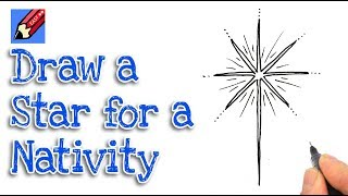 How to Draw a Christmas Nativity Star Real Easy