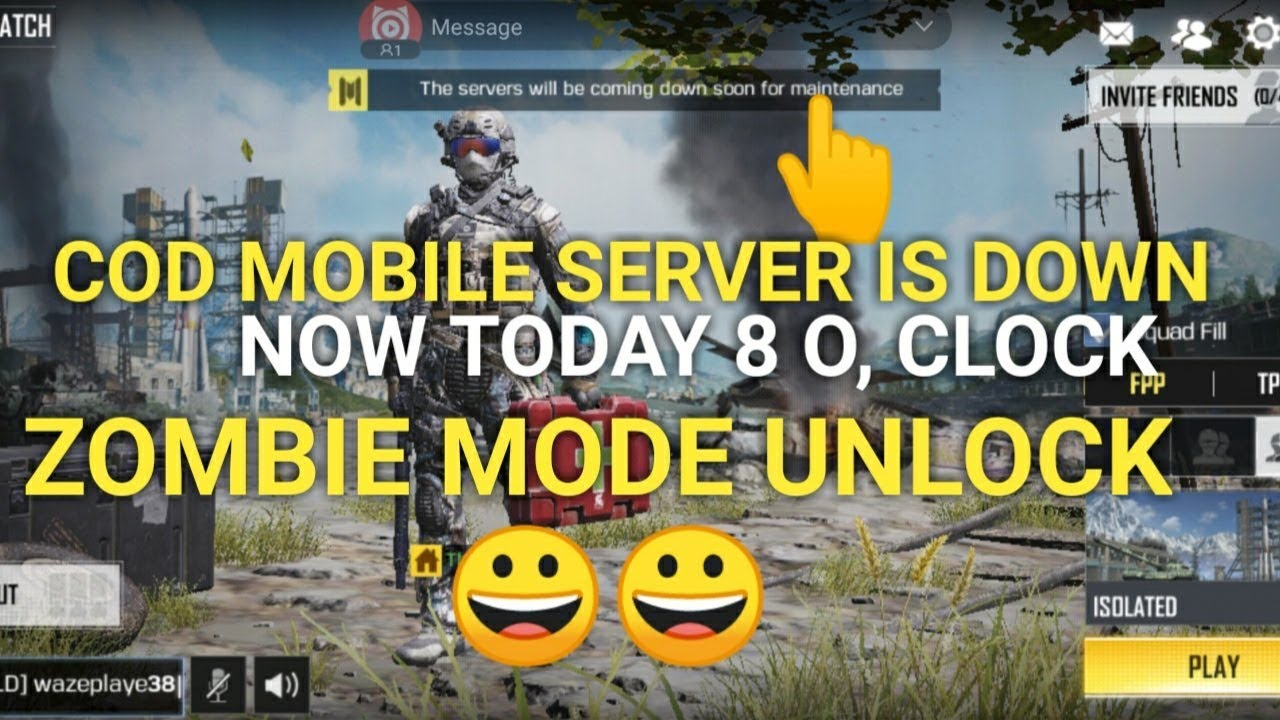 COD MOBILE SERVER IS DOWN TODAY 8 ,o, clock ZOMBIE MODE IS UNLOCK | GLOBALI  RELEASE