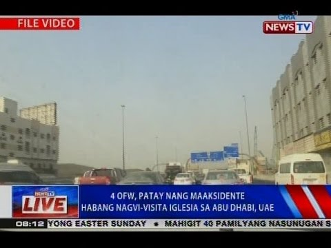 NTVL: 4 OFW, patay nang maaksidente habang nagvi-visita iglesia sa Abu Dhabi, UAE