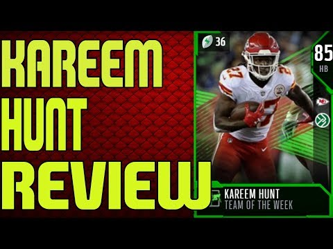 85 TEAM OF THE WEEK KAREEM HUNT REVIEW | MADDEN 18 ULTIMATE TEAM PLAYER REVIEW