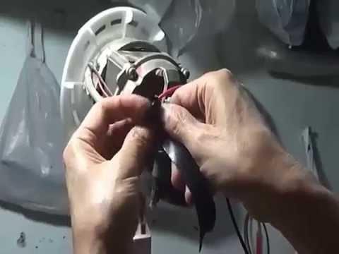 ซ่อมง่ายซ่อมได้เองอาการไม่หมุนหมุนเบาพัดลมHATARIรุ่นHC S16M5 ตอน2เปลี่ยนCคาปาซิเตอร์