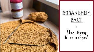 ВЯЗАЛЬНЫЙ ВЛОГ №36. Процессы сентября: Жилет, мохеровый свитер, варежки, водолазка. Новая пряжа.
