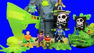 Imaginext Ghost Pirate Island Capture Aquaman Robo Shark Batman and Robin Save the Day